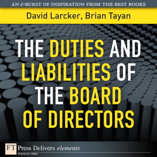 Duties and Liabilities of the Board of Directors, The