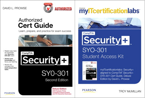 CompTIA Security+ SYO-301 Cert Guide with MyITCertificationlab Bundle, 2nd Edition