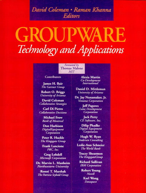 Groupware: Technology and Applications