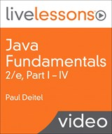 Java Fundamentals LiveLessons Parts I, II, III, and IV (Video Training): Lesson 17: Java SE 8 Lambdas and Streams, Downloadable Version, 2nd Edition