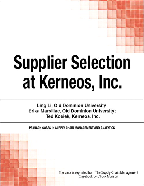 Supplier Selection at Kerneos, Inc.