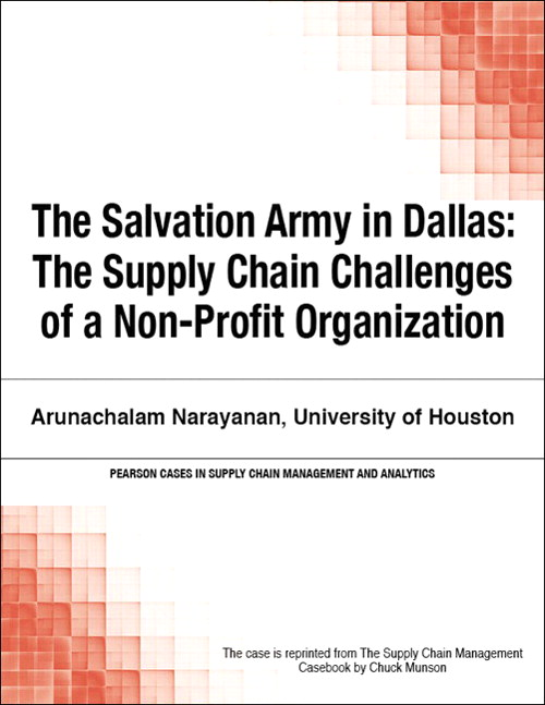 Salvation Army in Dallas. The: The Supply Chain Challenges of a Non-Profit Organization