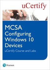 MCSA Configuring Windows 10 Devices uCertify Course and Labs Access Code Card