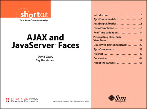 AJAX and JavaServer™ Faces (Digital Short Cut)