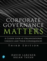 Corporate Governance Matters, 3rd Edition