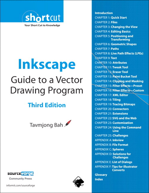 Inkscape: Guide to a Vector Drawing Program (Digital Short Cut), 3rd Edition