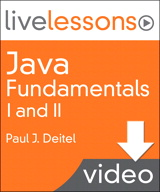 Java Fundamentals I and II LiveLesson (Video Training): Part II Lesson 3: Introduction to Graphical User Interfaces (GUIs) and Event Handling (Downloadable Version)
