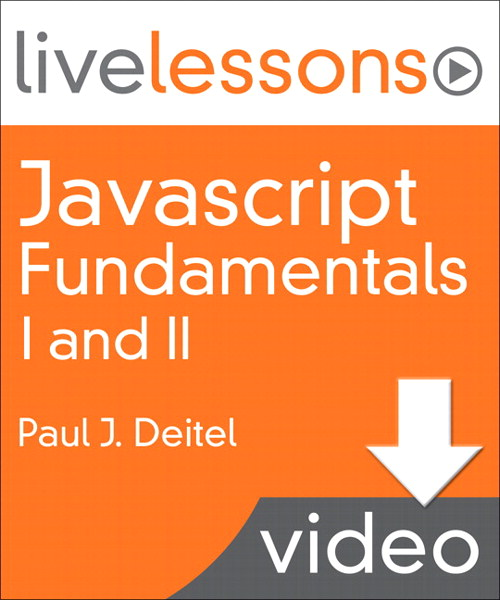 Javascript Fundamentals I and II LiveLessons (Video Training): Part II Lesson 3: Events (Downloadable Version)