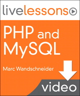 PHP and MySQL LiveLessons (Video Training): Lesson 15: Remembering Things: Cookies and Sessions (Downloadable Version)