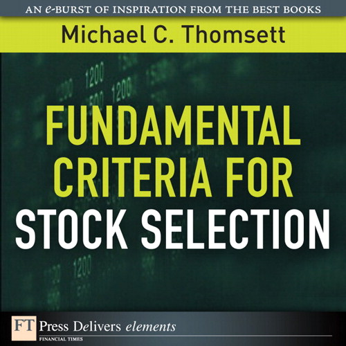 Fundamental Criteria for Stock Selection