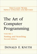 Art of Computer Programming, Volume 3: Sorting and Searching, 2nd Edition
