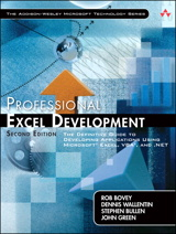 Professional Excel Development: The Definitive Guide to Developing Applications Using Microsoft Excel, VBA, and .NET, 2nd Edition