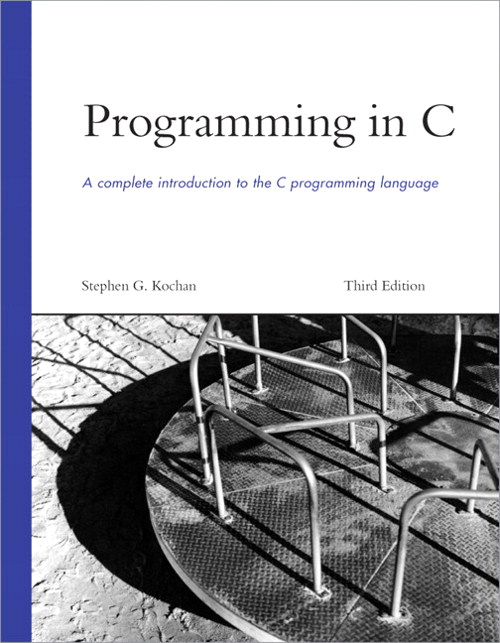 Programming in C, 3rd Edition