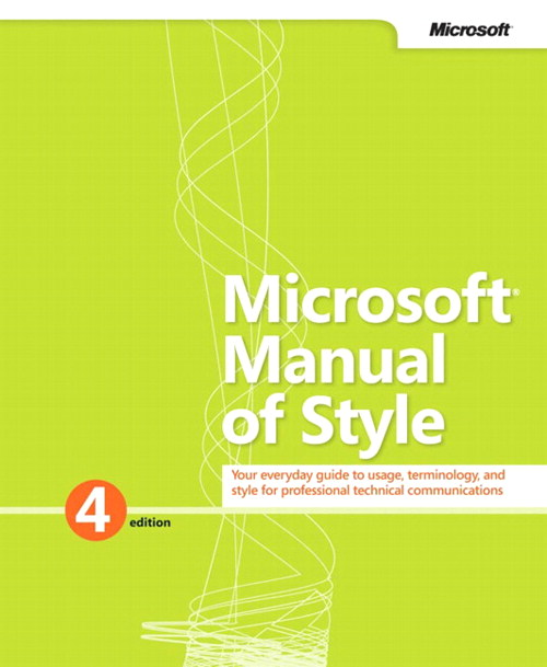 Microsoft Manual of Style, 4th Edition