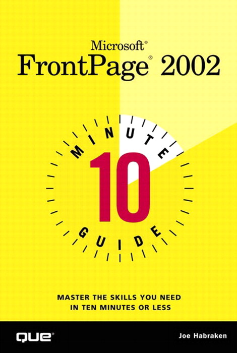 10 Minute Guide to Microsoft FrontPage 2002