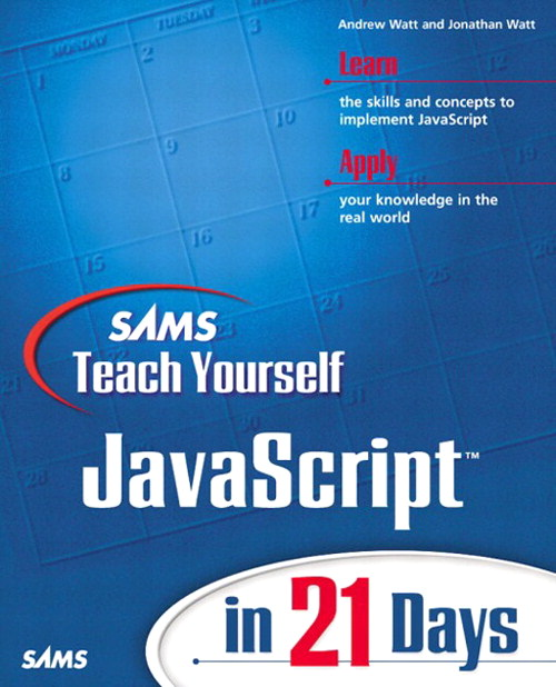 Sams Teach Yourself JavaScript in 21 Days