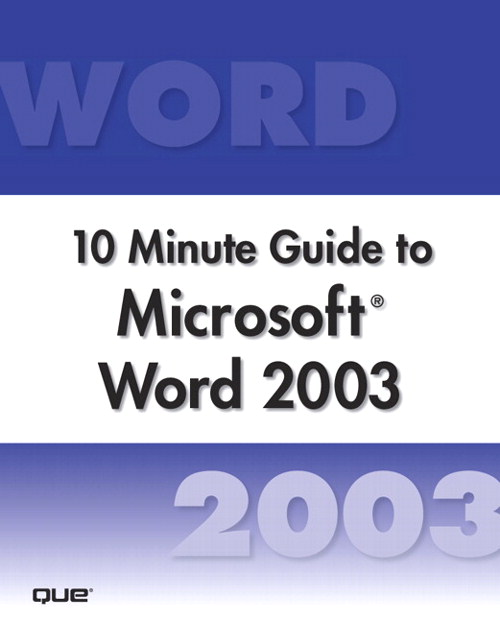 Microsoft Word 2003 10 Minute Guide (Secure PDF eBook)