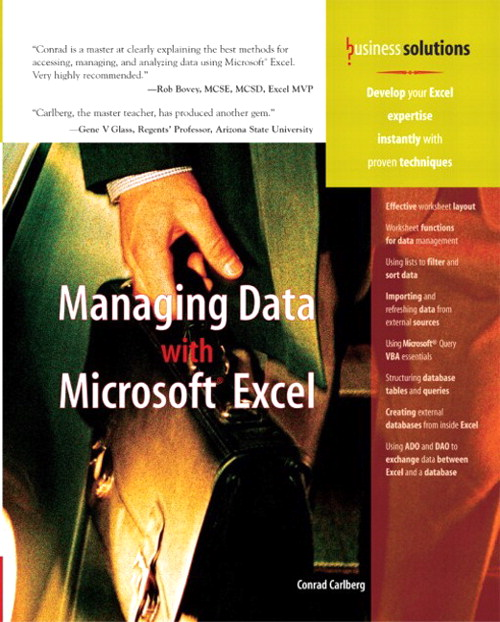 Managing Data with Excel