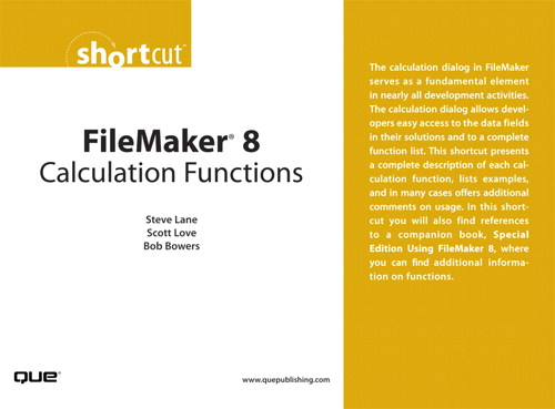 FileMaker 8 Calculation Functions (Digital Short Cut)