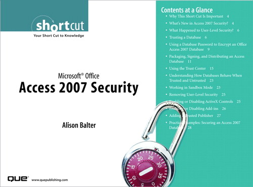 Microsoft Office Access 2007 Security (Digital Short Cut)
