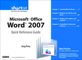 Microsoft Office Word 2007 Quick Reference Guide: Beta Preview (Digital Short Cut)