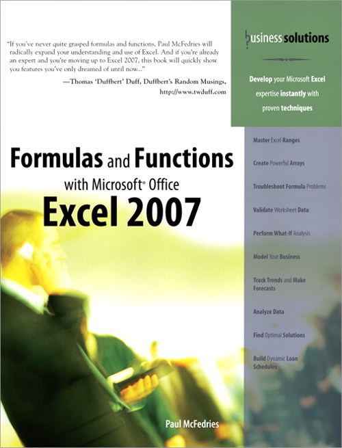 Formulas and Functions with Microsoft Office Excel 2007 (Adobe Reader)