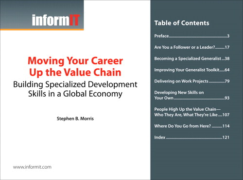 Moving Your Career Up the Value Chain: Building Specialized Development Skills in a Global Economy (Digital Short Cut)