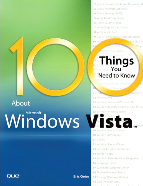 100 Things You Need to Know about Microsoft Windows Vista (Adobe Reader)