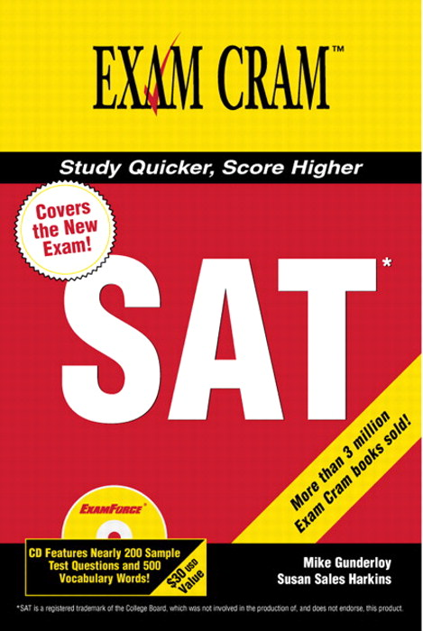 New SAT Exam Cram 2 with Cd-Rom, The
