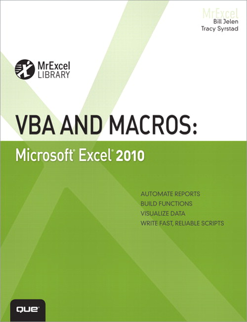VBA and Macros: Microsoft Excel 2010