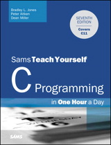 C Programming in One Hour a Day, Sams Teach Yourself, 7th Edition