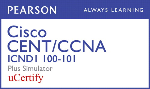 Cisco CCENT/CCNA ICND1 100-101 Pearson uCertify Course and Simulator Bundle