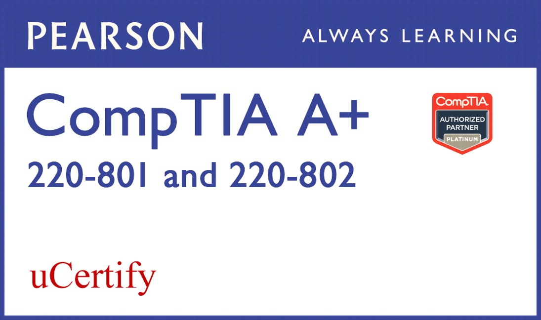 CompTIA A+ 220-801 and 220-802 uCertify Labs Student Access Card
