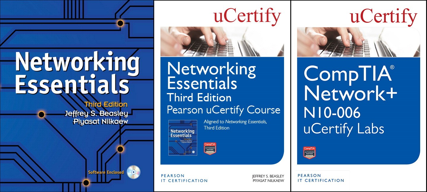Networking Essentials Pearson uCertify Course and Textbook and CompTIA Network+ N10-006 uCertify Labs Bundle